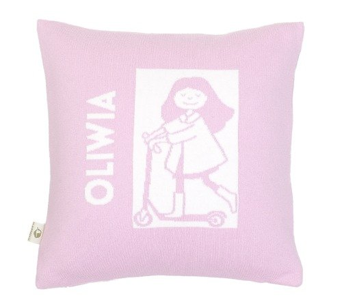 A girl. Pillow case with a name