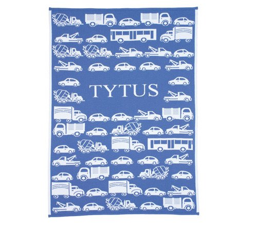 Big cars blanket with a name  90x120 cm