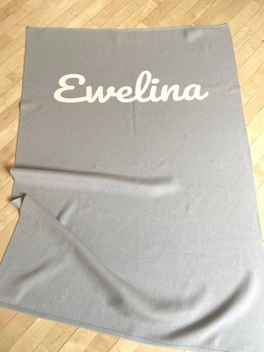 Blanket with a name FOR KIDS 90 x 130 cm