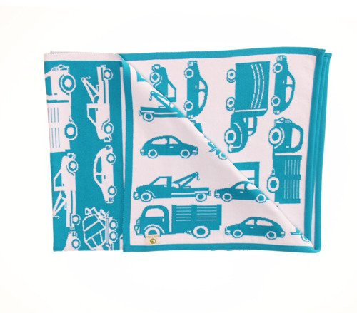 Blanket with cars 75 x 100 cm