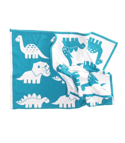 Dinosaurs blanket with a name 75x100 cm