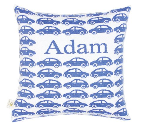 Little cars. Pillow case with a name