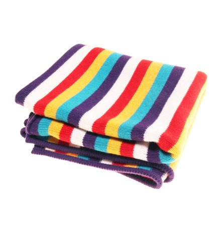 Merino Wool hippie blanket 110x100 cm col. stripes