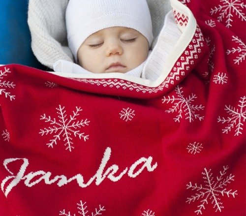 Norwegian Stars blanket with a name.  75 x100 cm