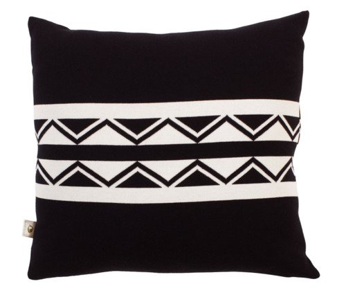 Organic cotton pillowcase. AZTEC kolor czarny / off white