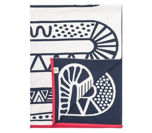 SNAKE blanket made of organic cotton, 100 x 135 cm.