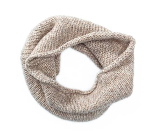 Womens wool and cotton loop scarf